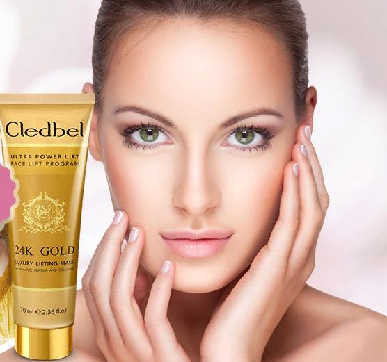 Маска-пленка Cledbel 24K Gold — непревзойденное омоложение кожи без дорогих процедур
