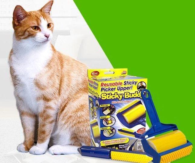 Набор профессиональных силиконовых валиков для уборки Sticky Buddy