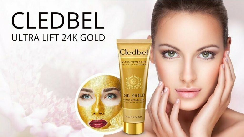 Маска-пленка для лица Cledbel 24K Gold